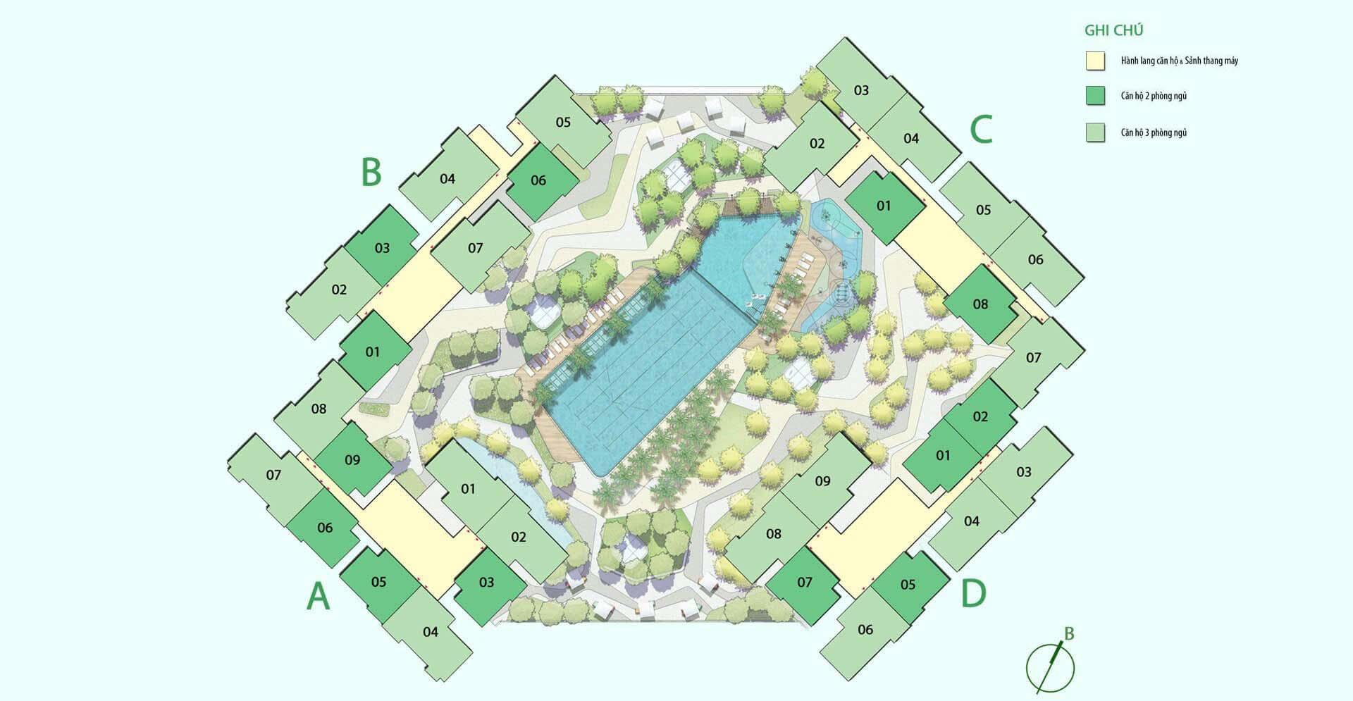 Mặt bằng dự án Sadora Quận 2