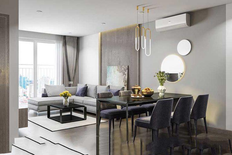 Phòng khách căn hộ The Sun Avenue