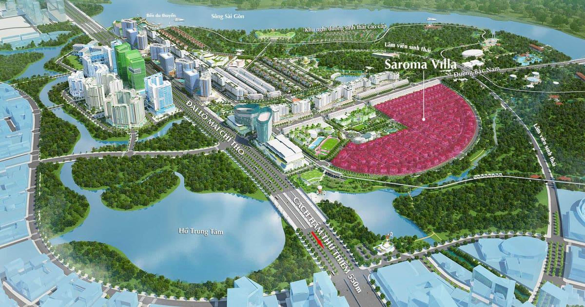 VỊ trí biệt thự Sala Saroma Villas Đại Quang MInh