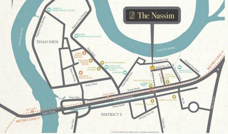 Vị trí The Nassim Thảo Điền