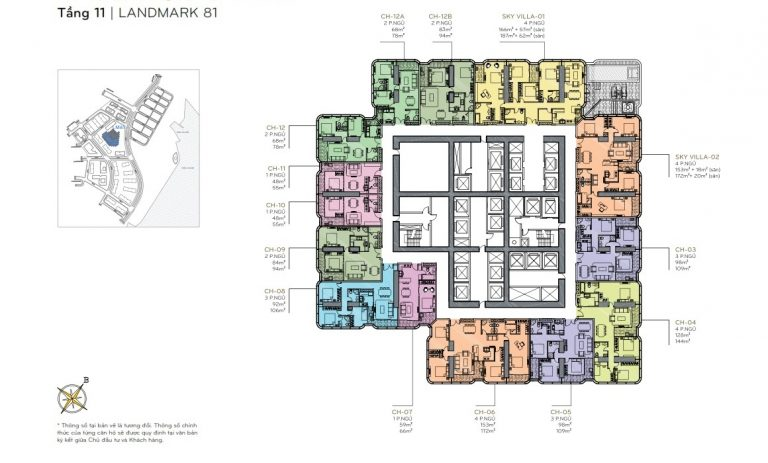 Layout tầng 11